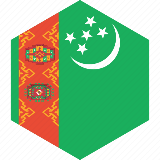 country, flag, turkmenistan, world icon