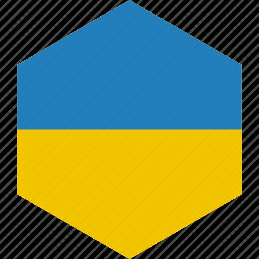 country, flag, ukraine, world icon