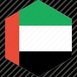 arab, country, emirates, flag, uae, united, world icon
