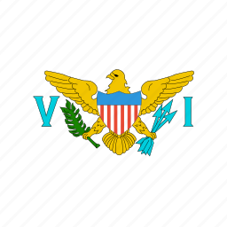 country, flag, islands, states, united, virgin, world icon