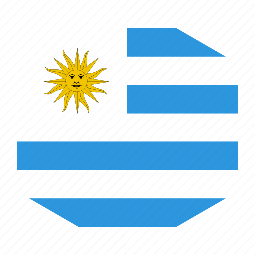 country, flag, uruguay, world icon