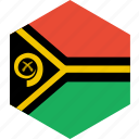 country, flag, vanuatu, world icon