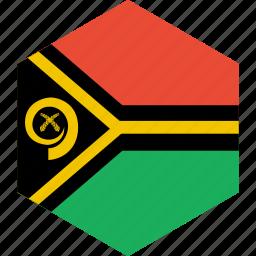 country, flag, vanuatu, world icon