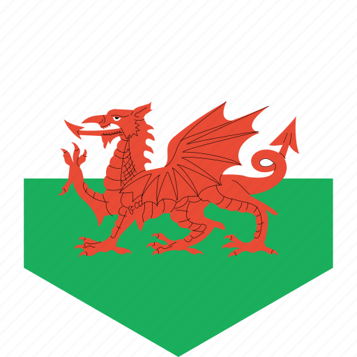 country, flag, wales, world icon