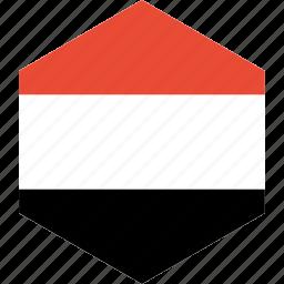 country, flag, world, yemen icon