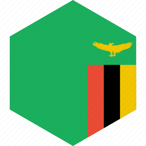 country, flag, world, zambia icon