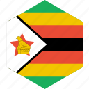 country, flag, world, zimbabwe icon