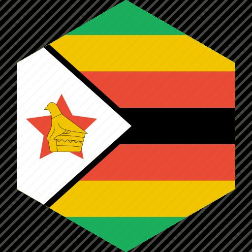 country, flag, world, zimbabwe icon