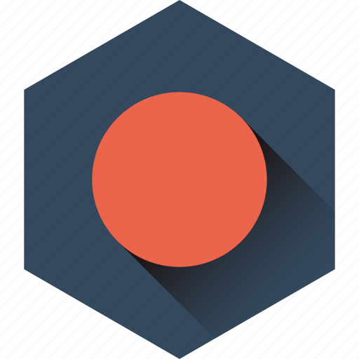 cirlce, hexagon, interface, stop, ui icon