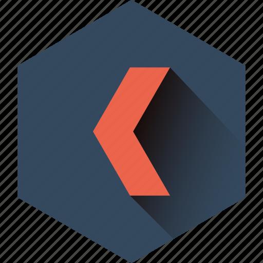 arrow, direction, left, move, previous, ui icon