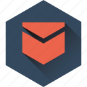 envelope, inbox, mail, message, send, ui icon