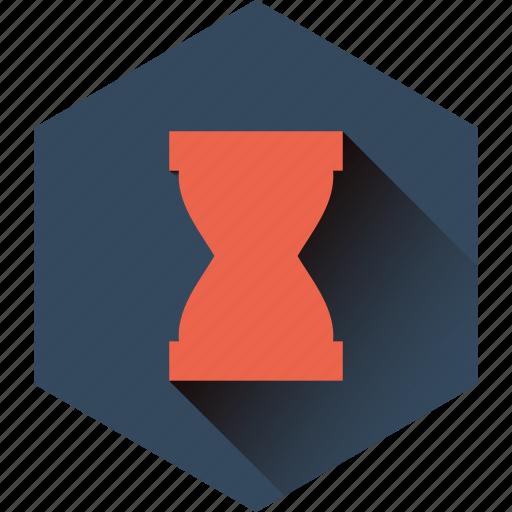 hexagon, hour, hourglass, sandglass, stopwatch, time icon