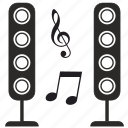 modern, music, sound, speakers icon