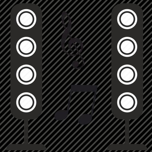 modern, music, sound, speakers icon