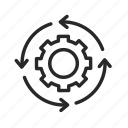gear, global, internet, mechanism, settings, space, technology icon