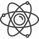 atom, molecule, nuclear, physics icon
