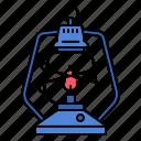 lantern, lamp, retro, vintage, fire, light, camp