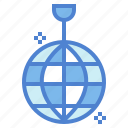 ball, club, dace, mirror, party icon