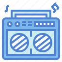cassette, music, radio, speakers icon