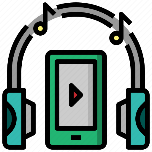 audio, earbuds, headphone, multimedia, music, sound icon