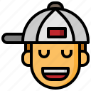 cap, caps, emoticon, fashion, hip, hop, rapper icon