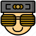 cool, cover, glasses, protection, protective, style, sun icon