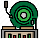 lp, music, player, record, technology, turntable, vinyl icon