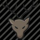 animal, caribou, creature, deer, reindeer, specie icon