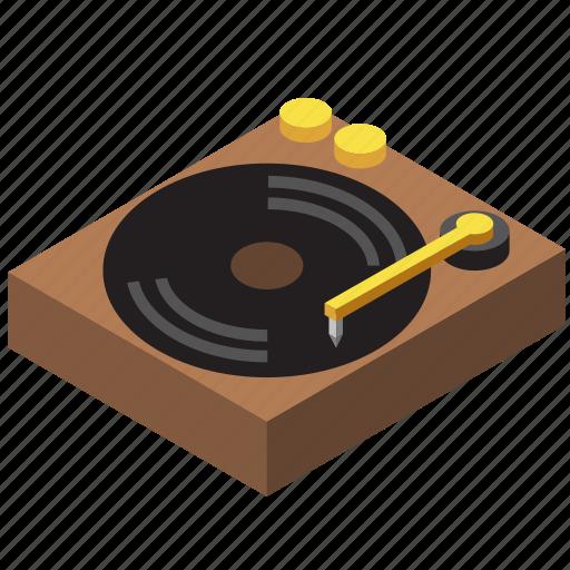 antique, gramophone, music, player, retro, vintage, vinyl record icon