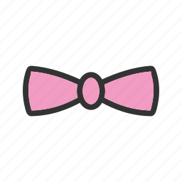 bow, color, fashion, hair, tie, wear icon