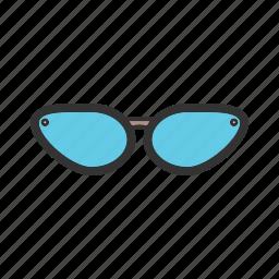 beautiful, glasses, lenses, protection, sun, sunglasses icon