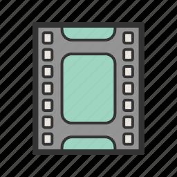 cinema, film, filmstrip, movie, reel, strip, video icon