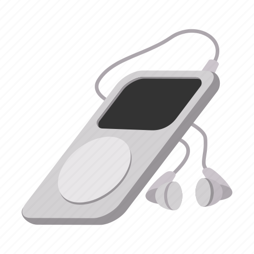 cartoon, hipster, media, mp3, music, player, sound icon