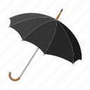 autumn, cartoon, hipster, male, parasol, rain, umbrella icon