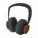 audio, cartoon, headphones, music, pair, sound, stereo icon