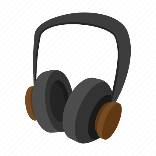 audio, cartoon, headphones, music, pair, sound, stereo icon