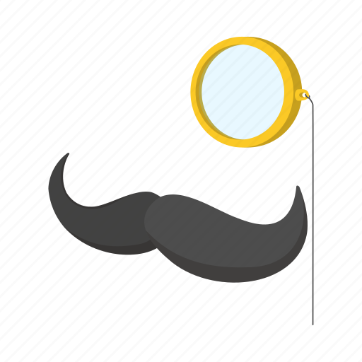 accessory, bowler, british, cartoon, collection, mustache, pince-nez icon