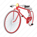 bicycle, bike, cartoon, hipster, retro, sport, vintage icon