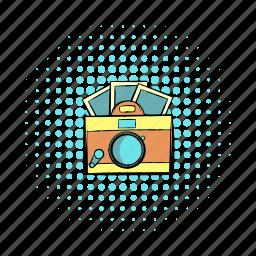 app, brown, camera, comics, hipster, photos, retro icon