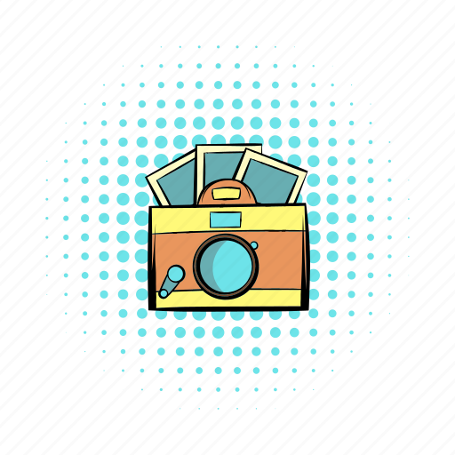 app, brown, camera, comics, hipster, photos, retro icon