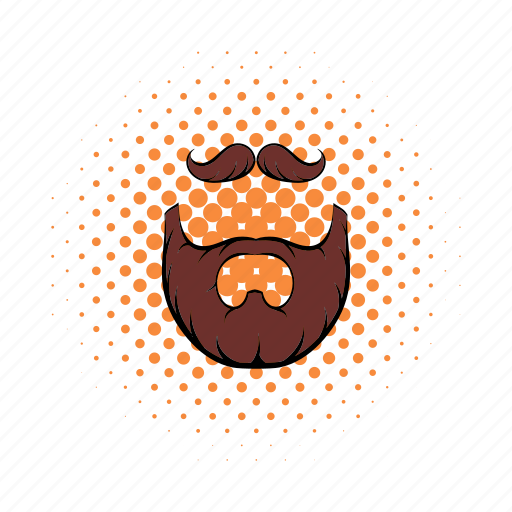 accessory, beard, bowler, brown, collection, hipster, mustache icon