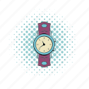 comics, hour, minimal, timer, watch, wrist, wristwatch icon