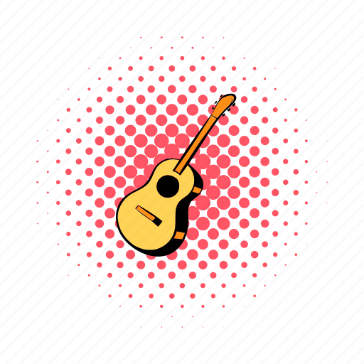 acoustic, comics, guitar, hipster, melody, music, musical icon