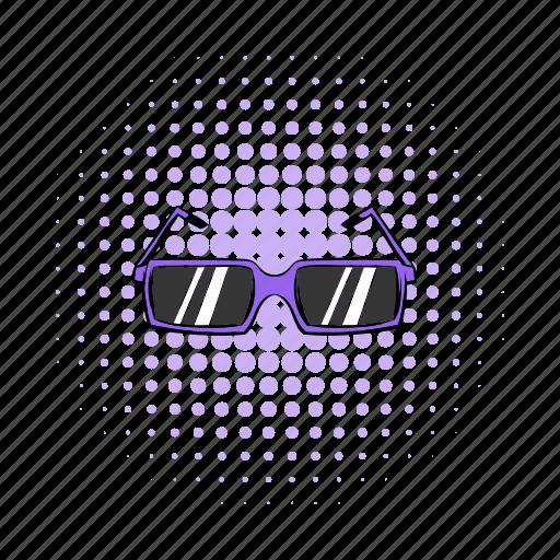 comics, design, fashion, glasses, summer, sunglasses, uv icon