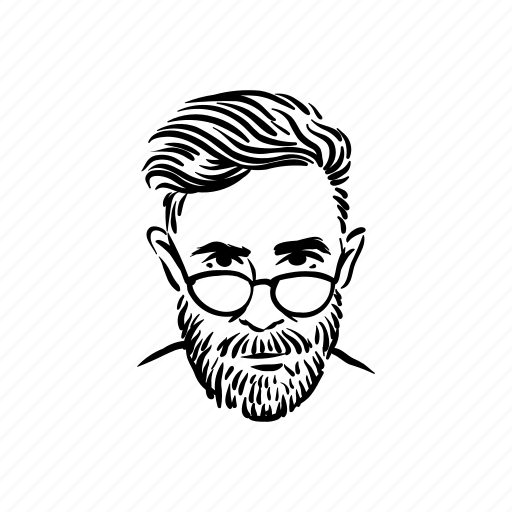 beard, geek, hipster, man, moustache icon