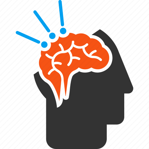 brain interface, human head, intelligence, mind control, operation, science, surgery icon