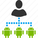 account, androids, connections, manage, management, manager, network icon