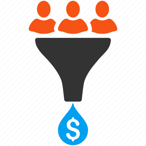 clients, conversion, customers, filter, profit, sale funnel, sales icon