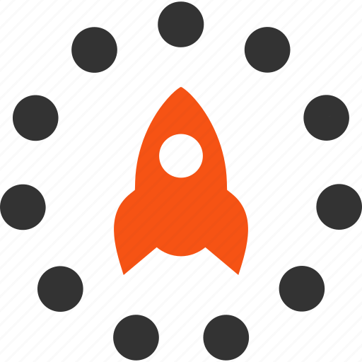 business project, rocket launch, science, start, startup, technology, venture company icon