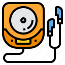 activity, compact, disc, hobby, music, play, vacation icon